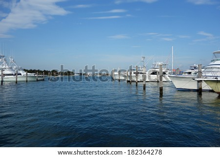 The fishing fleet at a South Florida marina - stock photo