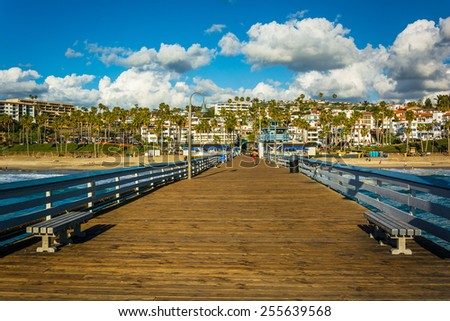 The fishing pier in San Clemente, California. - stock photo