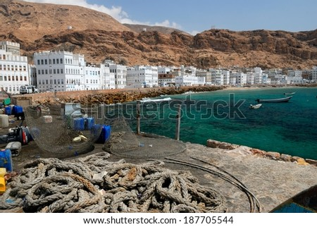 The Fishing Town of Al Mukalla in Yemen - stock photo