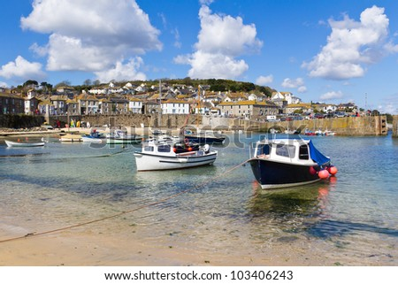 The fishing village of Mousehole Cornwall England UK