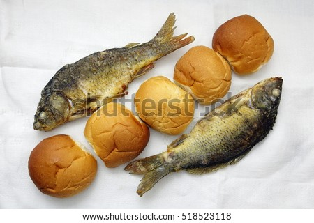 Five loaves two fishes stock photo 512598049 shutterstock for Five loaves two fish