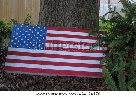 THE FLAG - stock photo