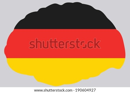 The Flag of Germany contained in a Brain