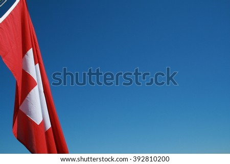 The flag of Switzerland - stock photo