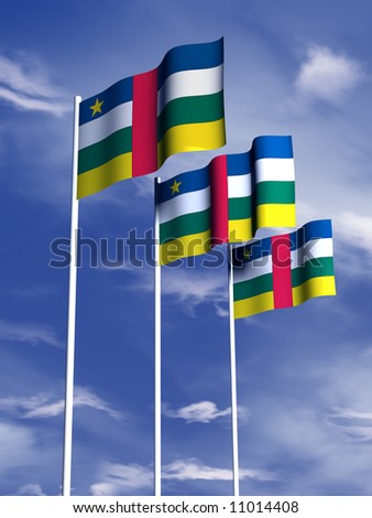 The flag of the Central African Republic