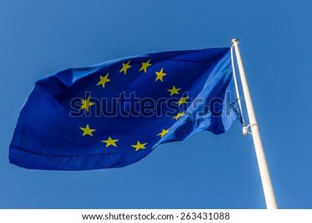 The flag of the European Union - stock photo