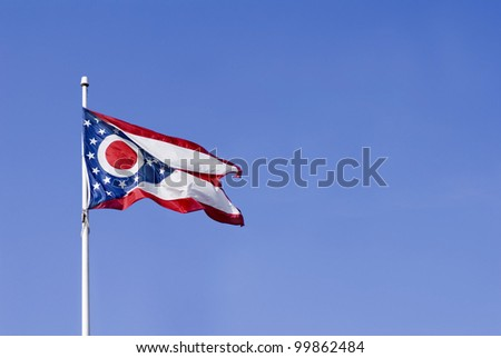 The flag of the state of Ohio, United States - stock photo