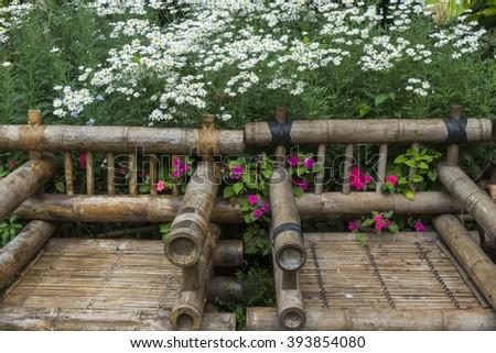 the flower garden park - stock photo