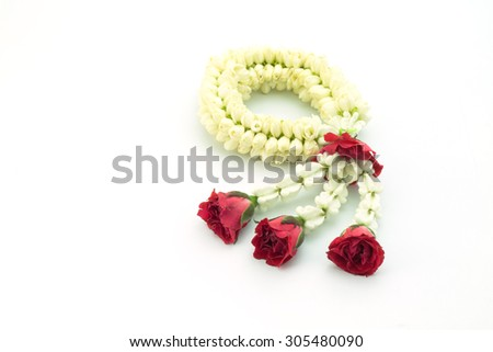 The flower in Thai Tradition - stock photo