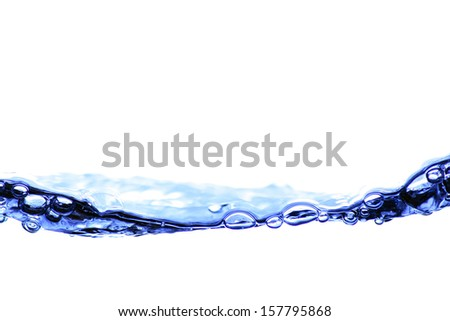 the fluid motion of water    - stock photo