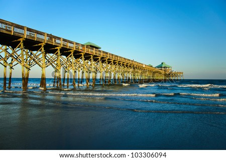 The Folly Beach Pier in Summer - South Carolina