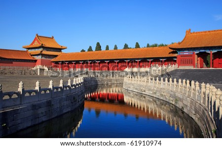 The Forbidden City. Beijing, China - stock photo