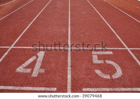 the forth and fifth running lane - stock photo
