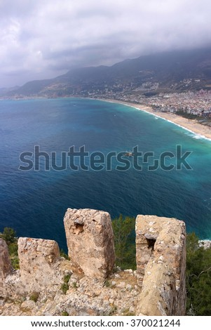 The fortress of Alanya in Turkey - stock photo
