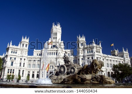 The fountain of Cibeles, Madrid, Spain - stock photo