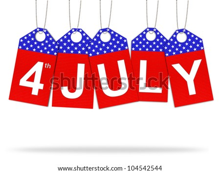 The fourth of july independence day - stock photo