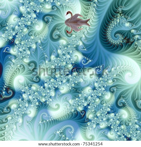 The fractal - stock photo