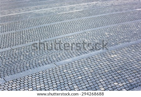 The fragment of a pavement. Side view. - stock photo