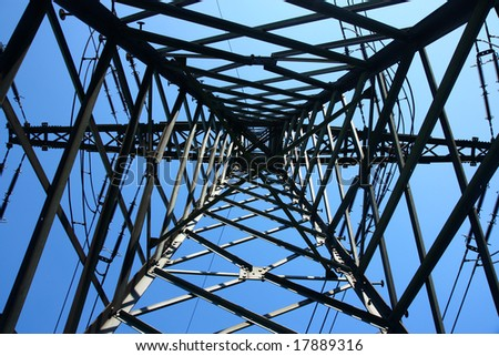 The frame of high voltage electrical towers