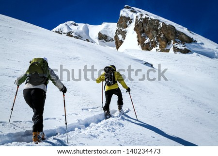 The freedom of creating ones own path up a mountain through fresh snow on a ski tour in spectacularly beautiful mountains is an unparalleled experience.