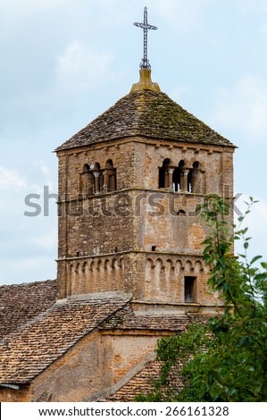The French old medieval church in the south of France