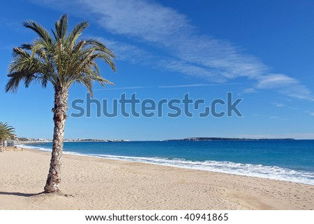 The french riviera. - stock photo