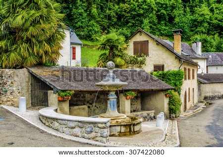 The French village of Borce. - stock photo