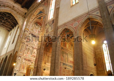 The frescoes in the Church of Santa Croce in Florence-Tuscany-Italy 1061