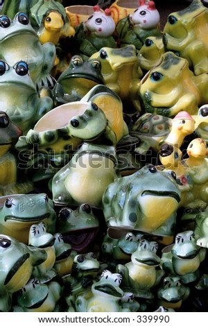 The frogs - stock photo