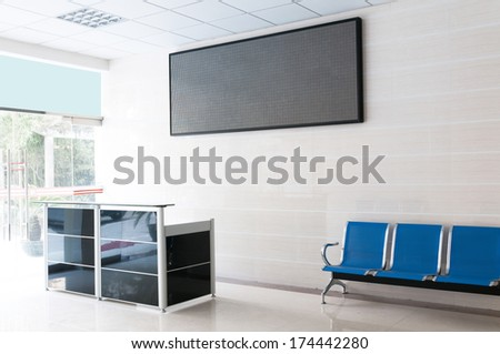 The front desk at a business center in a modern style - stock photo