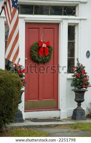 Front Door Early New England House Stock Photo 2251798
