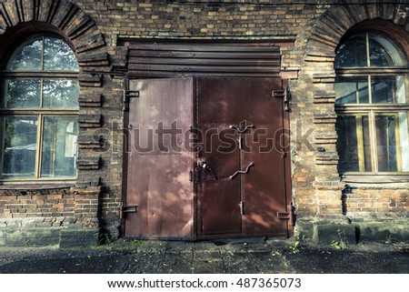 The front door of the old factory