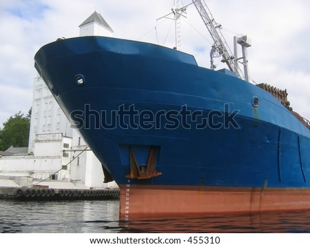 The front of a ship - stock photo