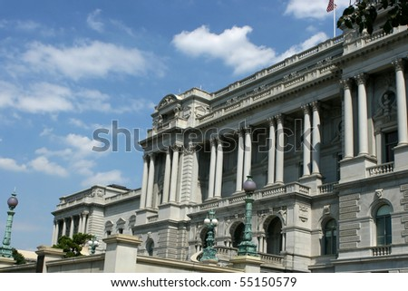 The front of the Library of Congress's Thomas Jefferson Building in Washington, D.C.