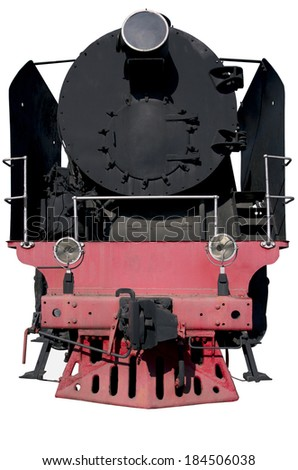 the front of the locomotive for design - stock photo
