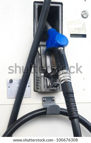 The fuel supply, pump needle - stock photo