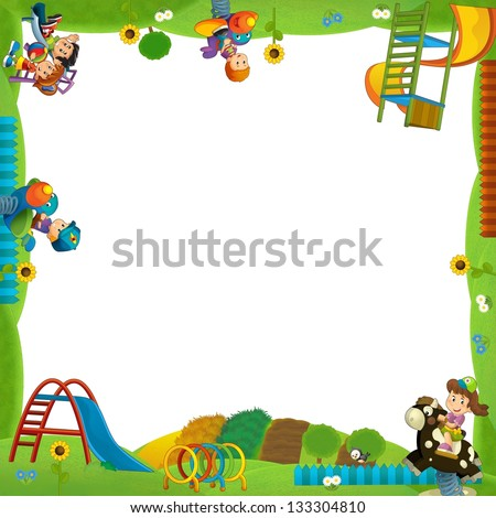The funfair - playground - the framing for misc usage - illustration ...