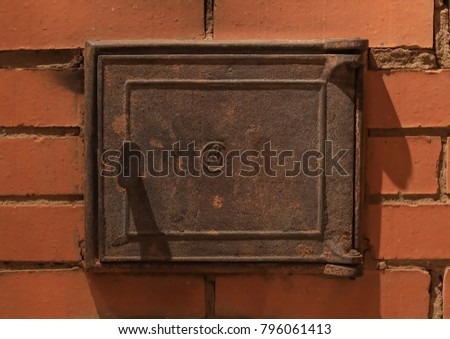 the furnace door is in a Russian stove cast iron masonry & Furnace Door Stock Images Royalty-Free Images \u0026 Vectors   Shutterstock