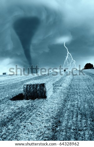 the fury is incoming from the horizon - stock photo