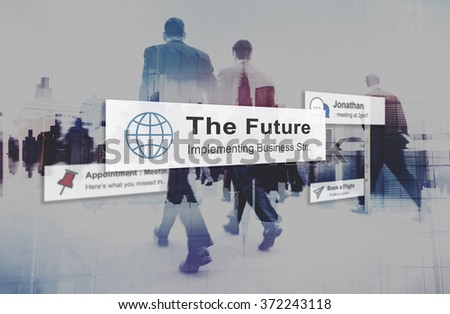 The Future Plan Strategy Vision Innovation Development Concept - stock photo