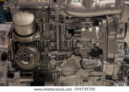 The future powerful car engine - stock photo