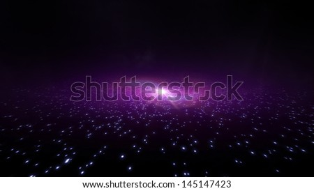 the galaxy light in the space of graphical background