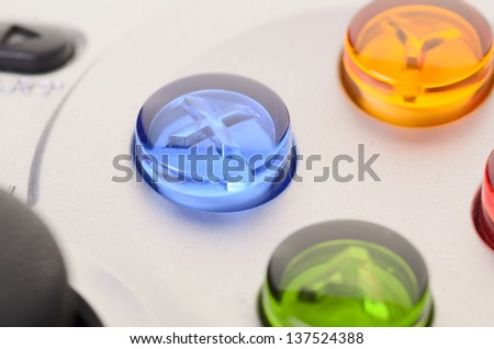 The game controller macro on a background - stock photo