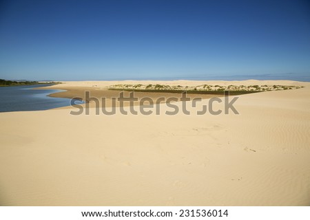 The Gamtoos River Mouth in South Africa - stock photo