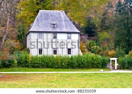 The garden house of Johann Wolfgang von Goethe in Weimar in Germany - stock photo