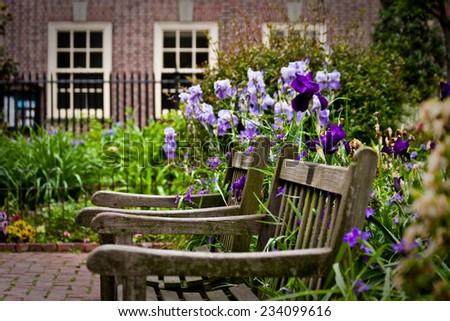 Garden Christ Church Philadelphia Pennsylvania Stock Photo (Safe to ...