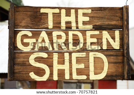 the garden shed sign outside a farmers market in mcminnville oregon