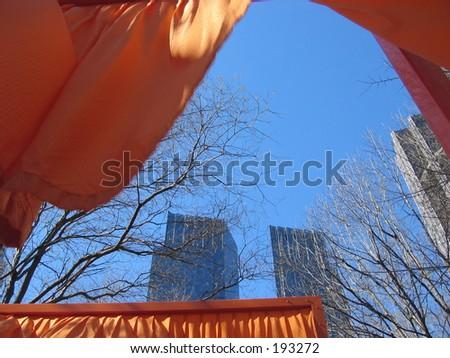 The Gates exhibit, NYC. - stock photo
