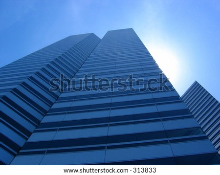 The Gateway on a clear blue sunny day - stock photo