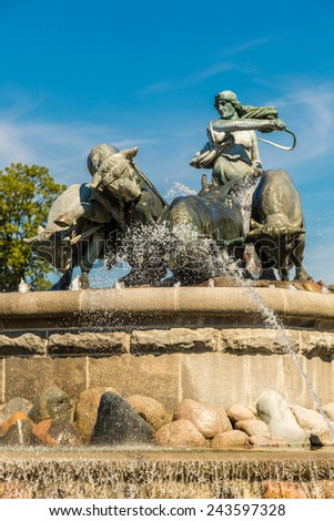 The Gefion fountain is the largest fountain in Copenhagen